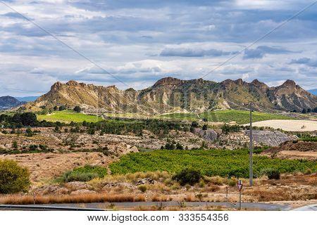 Landscape View Of Villanueva Near Murcia In Spain
