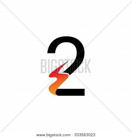 Number 2  Logo Or Symbol Template Design Creative