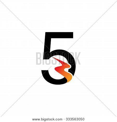 Number 5  Logo Or Symbol Template Design Creative