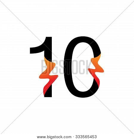 Number 10  Logo Or Symbol Template Design Creative