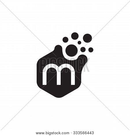Dots Letter M Logo Vector. M Letter Logo Design With Black. M Logo Vector, Icon Design, Digital Icon