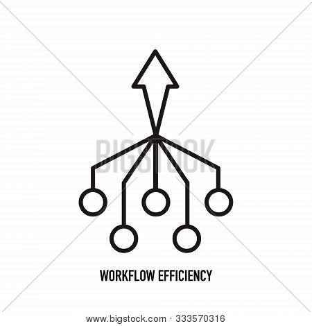Vector Workflow Efficiency Icon With An Aspect Of Efficiency In Workflow
