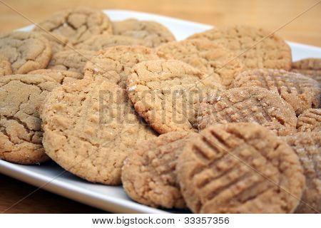 Peanut Butter And Sugar Cookies