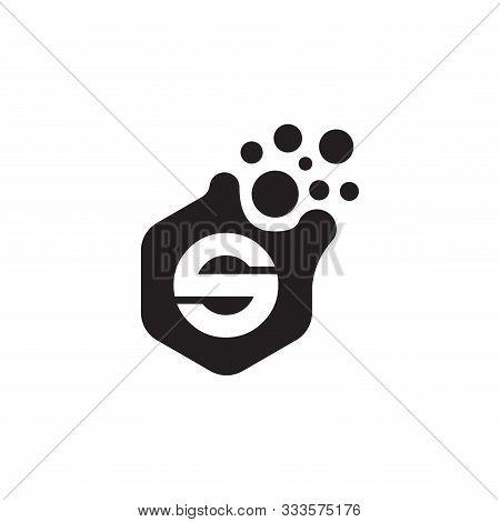 Dots Letter S Logo Vector. S Letter Logo Design With Black. S Logo Vector, Icon Design, Digital Icon