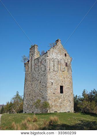 Invermark Castle Remains, Angus, Scotland.
