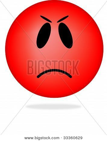 Angry smiley emoticon