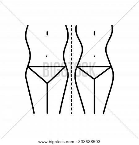 Black Line Icon For  Diet-control Diet Control Weightloss Waist Slim