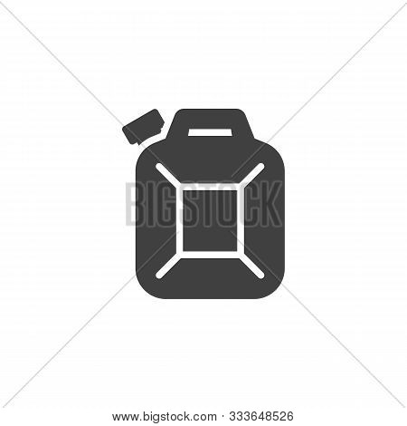 Fuel Canister Vector Icon. Filled Flat Sign For Mobile Concept And Web Design. Jerrycan Canister Gly