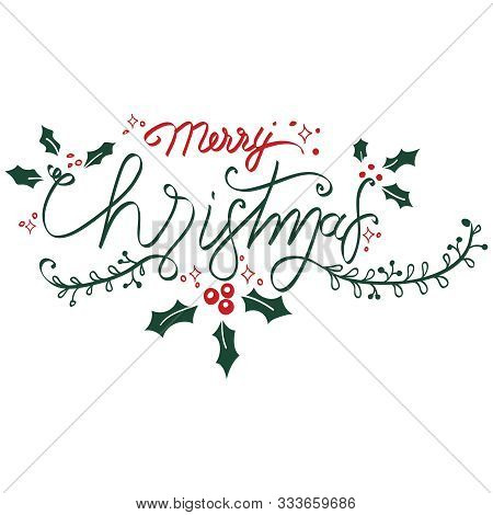 Merry Christmas For Wall Decals, Wall Sticker - Vector