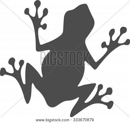 Frog Icon On White Background Wild, Wildlife, Zoo, Zoology