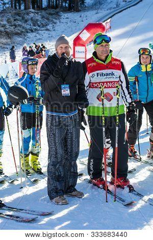 Bansko, Bulgaria - December, 12, 2015: Petar Popangelov At Opening New Ski Season 2015-2016 In Bansk