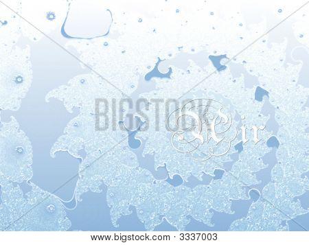 Air Light Blue Four Elements 2D Fractal Background Pattern Design
