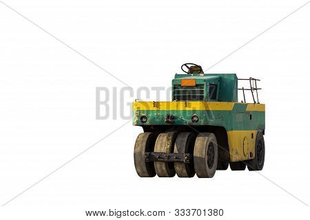 Small Motor Vehicle Or Heavy Roller Wheel Tires Or Steamroller For Road Making Or Street - Highway C