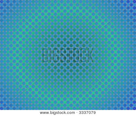 Op Art One Thousand Circles Round Gradients Blue And Green
