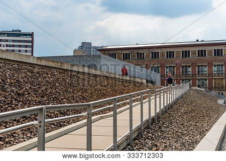 Berlin, Germany - July 29, 2019: Topographie Des Terrors, Topography Of Terror. It Is A History Muse