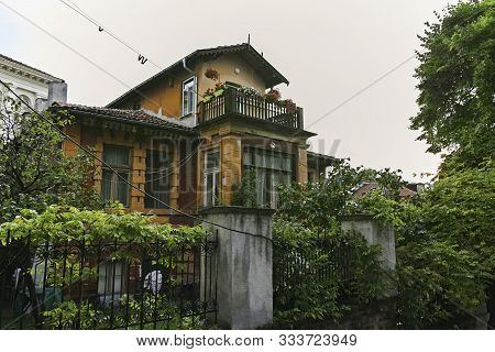 Plovdiv, Bulgaria - July 4,  2018:  Nineteenth Century Houses At Architectural And Historical Reserv