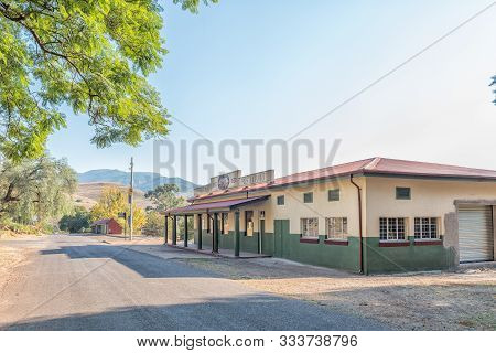 Pilgrims Rest, South Africa - May 21, 2019: A Street Scene, With The Historic Jubilee Potters Buildi