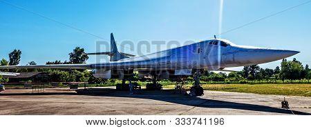 Poltava, Ukraine - October 19, 2019: Tupolev Tu-160