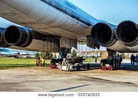 Poltava, Ukraine - October 19, 2019: Tupolev Tu-160 Missile-carrying Aircraft