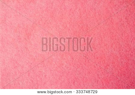 Fleecy Tissue Pink Color. The View From The Top. Space For Text