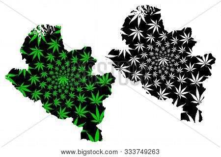 Narino Department (colombia, Republic Of Colombia, Departments Of Colombia) Map Is Designed Cannabis