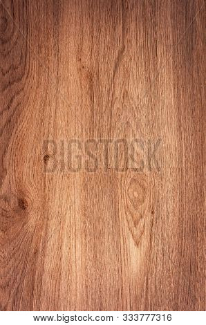 Wood background texture of board surface. Brown wooden grunge plank. Timber grain material pattern of vintage table. Wood panel of dark floor