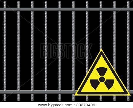 Grate  Radioactive Sign