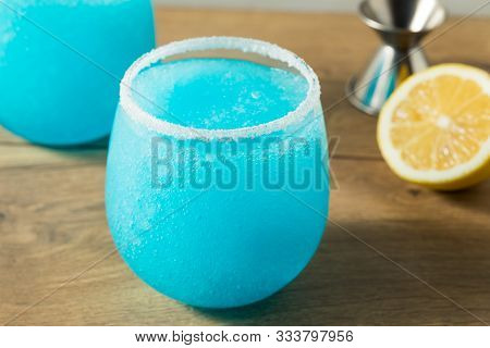 Homemade Frozen Blue Jack Frost Cocktail