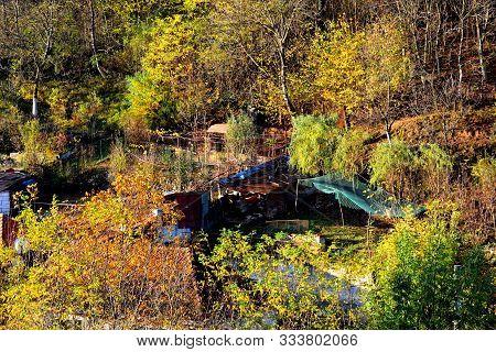 Typical Urban Landscape In The City Resita, Banat, Transylvania