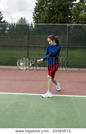 Tennis Two Handed Backhand For Lefthanded Player