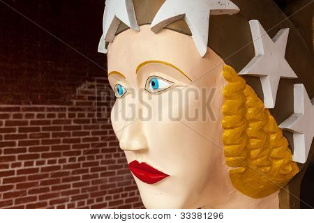 Wooden Figurehead Carved For Schooner Freedom