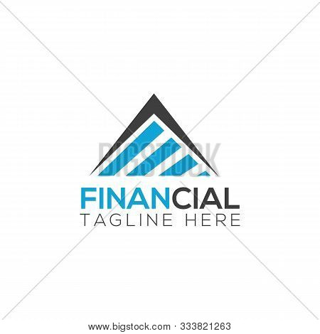 Business Financial And Accounting Logo Design Template. Marketing Chart Financial Company Logo. Fina