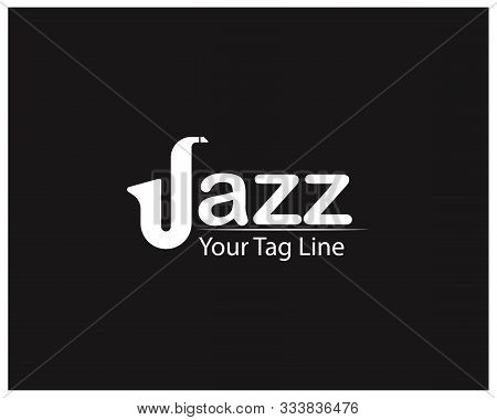 Jazz Logo Design, Letter Jazz On Black Background.