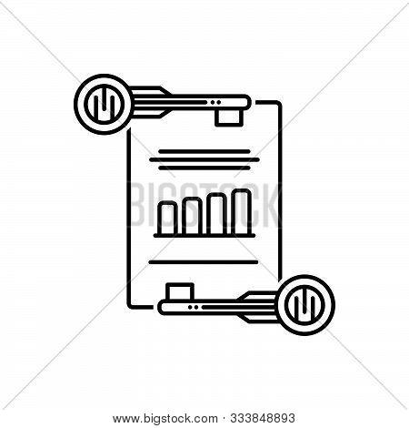 Black Line Icon For  Effective-keywording Effective Keywording Management