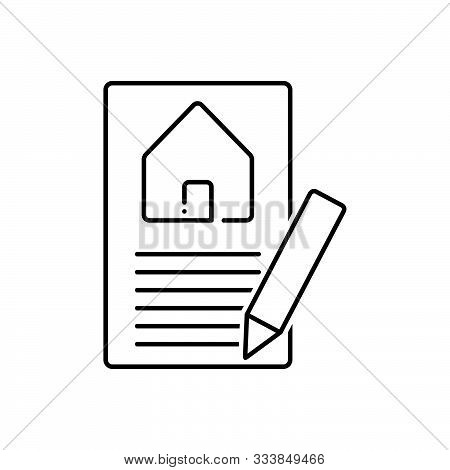 Black Line Icon For  Property-valuation Property Home Real-estatevaluation Appraisal Insurance