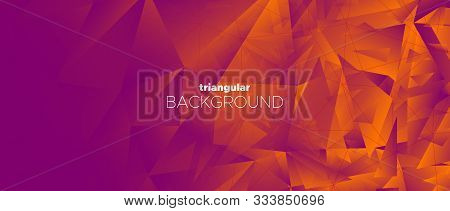 Vector Minimal Poster. 3d Abstract Polygon Background. Red Geometry Texture. Landing Page. Graphic M