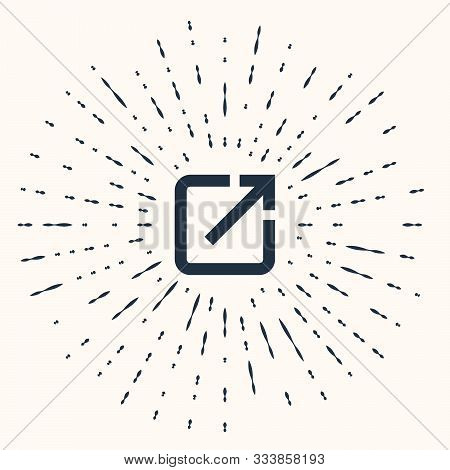 Grey Open In New Window Icon Isolated On Beige Background. Open Another Tab Button Sign. Browser Fra