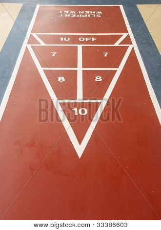 Shuffleboard Court From Point