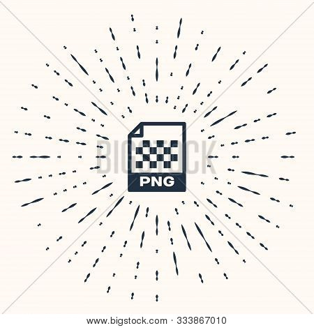 Grey Png File Document. Download Png Button Icon Isolated On Beige Background. Png File Symbol. Abst