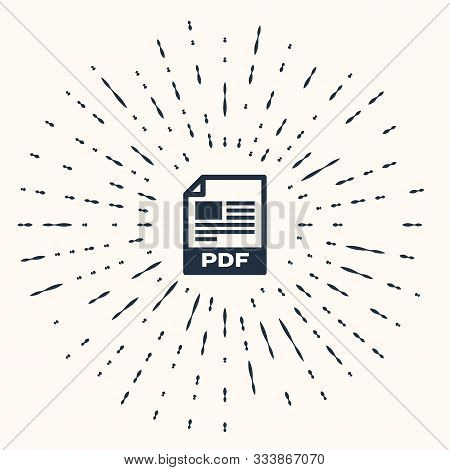 Grey Pdf File Document. Download Pdf Button Icon Isolated On Beige Background. Pdf File Symbol. Abst
