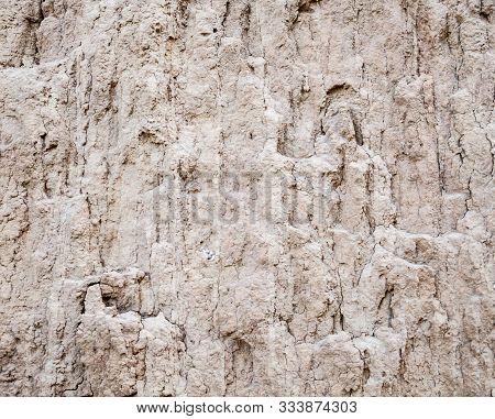 Ground Texture. Soil Surface. Landslip (landslide). Close-up.