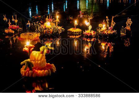 Loi Krathong Festival, Loy Krathong Day Is One Of The Most Popular Festivals Of Thailand Celebrated