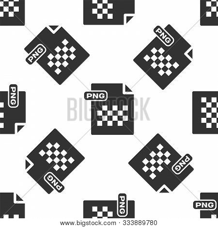 Grey Png File Document. Download Png Button Icon Isolated Seamless Pattern On White Background. Png