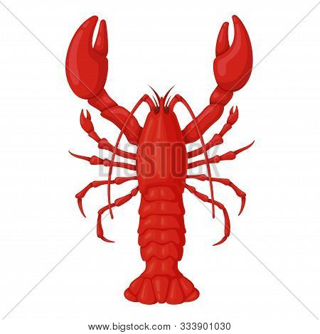 Lobster Red Icon, Fresh Seafood For Delicacy