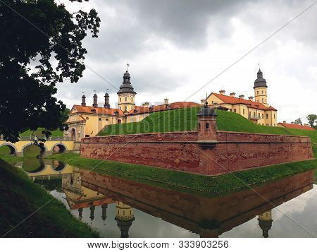 Nesvizh, Belarus - July 13, 2018: Nesvizh Castle As An Example Of Belarussian Historical Heritage Of