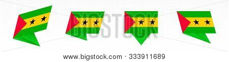 Flag Of Sao Tome And Principe In Modern Abstract Design, Vector Flag Set.