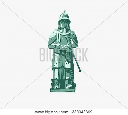 Statue Of Admiral Yi Sun-shin In Busan, South Korea