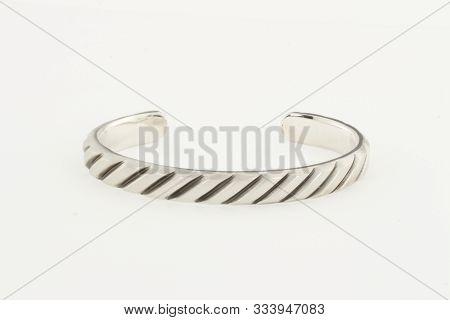 Design Bracelet In Crystal Ball Chain In Silver Tone, Skn Silver Plated Metal Chain Rakhi Bracelet,