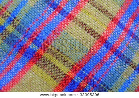Texture Of Woven Picnic Blanket