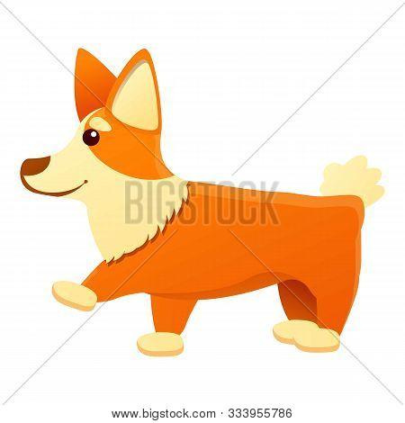 Joking Corgi Dog Icon. Cartoon Of Joking Corgi Dog Vector Icon For Web Design Isolated On White Back